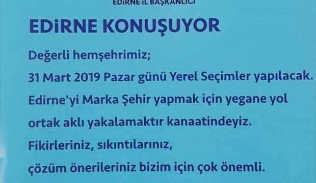 """AK Parti Edirne İl Başkanlığı """"Fikir Hattı"""" kurdu"""
