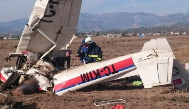 Antalya'da keşif uçağı düştü!