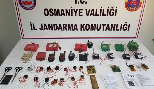 Osmaniye'de el yapımı patlayıcı düzenekleri ele geçirildi