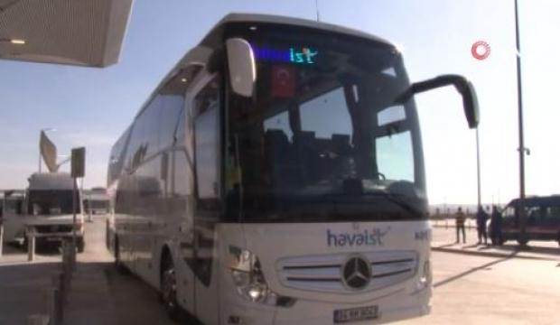 İşte Yeni Havalimanı'na yolcu taşıyacak otobüsler