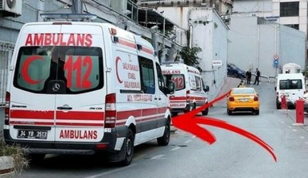 Ambulans alanına park etmek isteyip dehşet saçtı!