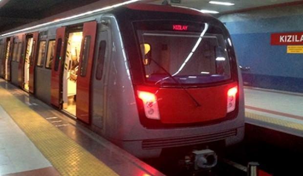 Ankara metrosu kapatıldı