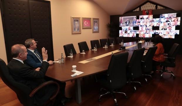 Erdoğan'dan telekonferans yoluyla toplantı!