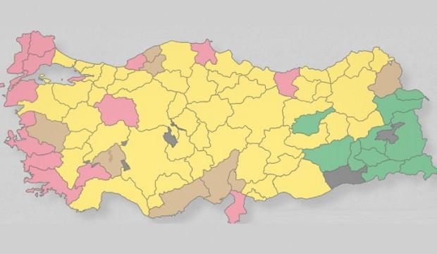 2014 yerel seçiminde il ve ilçelerin oy oranları