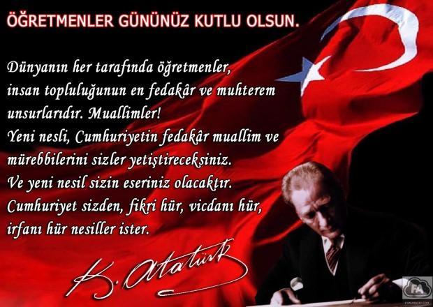 Mustafa Kemal Atatürk 24 Kasım Öğretmenler Günü Sözleri