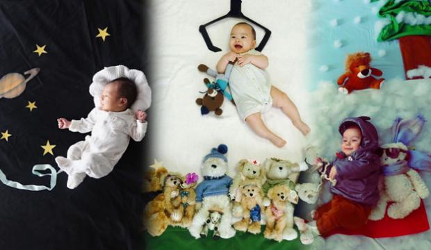 Konsept bebek fotoğrafları evde nasıl çekilir?