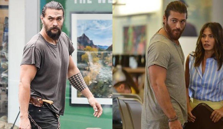 Can Yaman ve Jason Momoa'nın şaşırtan benzerliği!