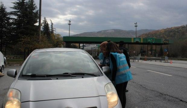 Öğrenciler trafik uygulamasına katıldı