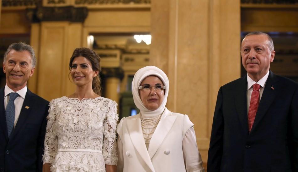 Emine Erdoğan Arjantin G20 Zirvesi'nde böyle karşılandı