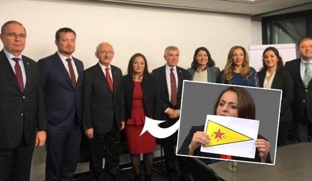 Sevim Dağdelen'in geçtiğimiz günlerde Kemal Kılıçdaroğlu ile bir araya geldiği görüntü ve Alman meclisinde geçmişte açtığı YPG paçavrasının fotoğrafı...