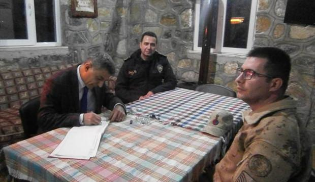 Kaymakam Özkan güvenlik güçlerini ziyaret etti