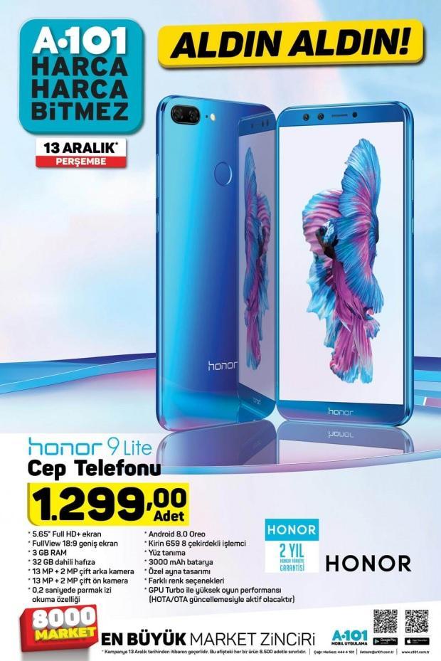 Honor 9 Lite Cep Telefonu 1,299 TL