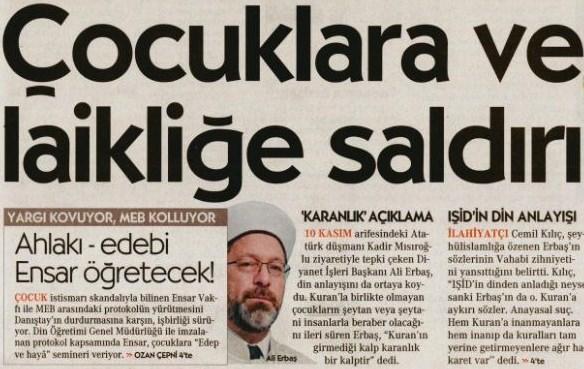 Cumhuriyet'ten küstah haber!