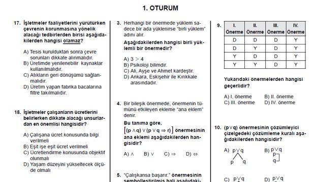 Açıköğretim lisesi 1.dönem soruları ve cevapları (AÖL çözümlü çıkmış sorular)