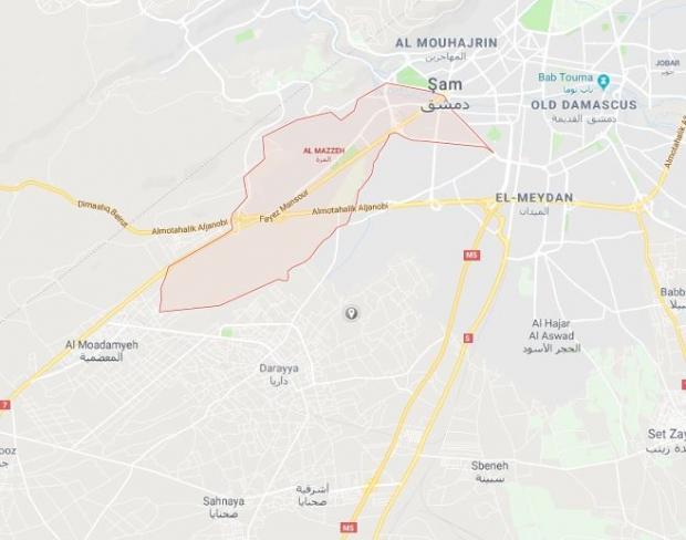 Başkent Şam'ın Al Mazzeh bölgesi...