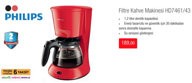 Philips Filtre kahve Makinesi