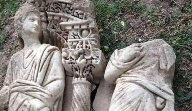 1600 yıllık lahit parçası ele geçirildi