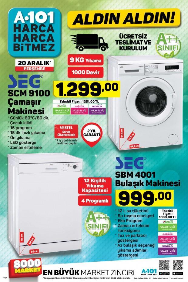 A101 Bulaşık Makinesi / SEG Çamaşır Makinesi