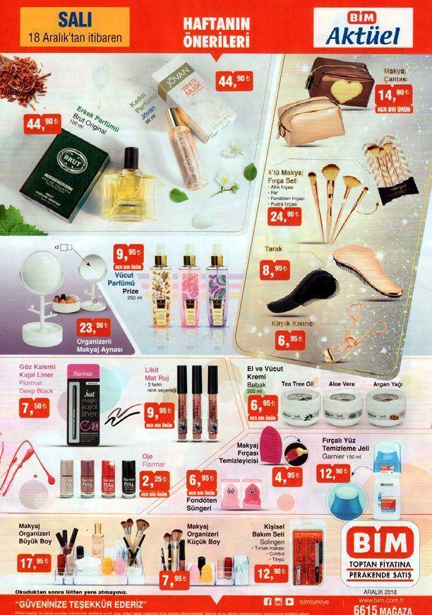 BİM 18 Aralık Salı günü kataloğunda inanılmaz indirimli kozmetik ürünler