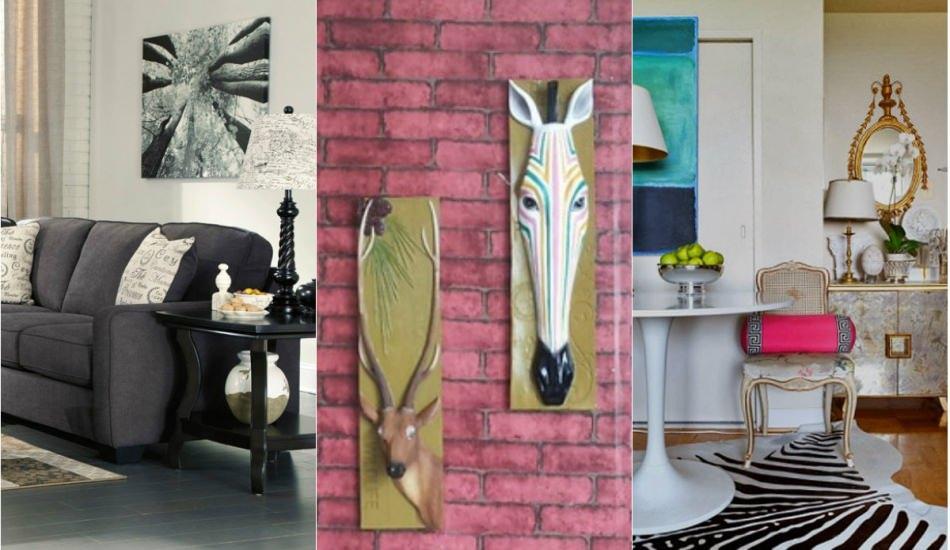 Zebra desenli ev dekorasyonları