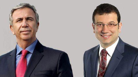 CHP'nin İstanbul Büyükşehir Belediye adayı Ekrem İmamoğlu (sağda) Ankara Büyükşehir Belediye adayı ise Mansur Yavaş (solda) oldu...