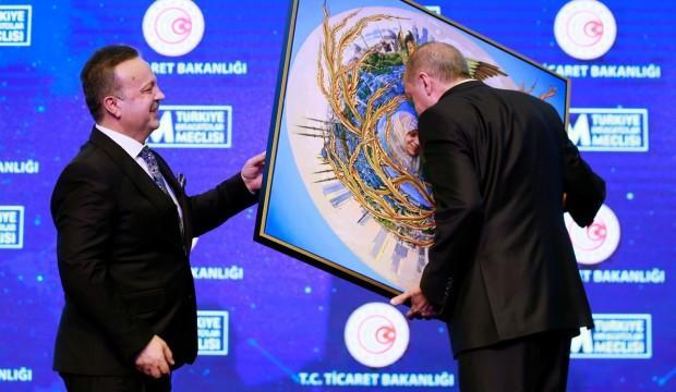 Erdoğan o tabloyu görünce dayanamadı!