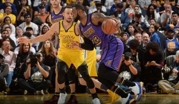 Lakers, Warriors'a fark attı! LeBron James...