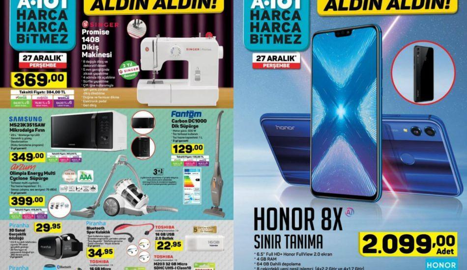 A101 27 Aralık ürün kataloğunda dev indirimler Fantom el süpürgesi