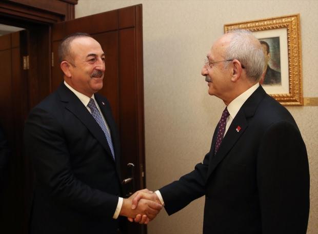 Dışişleri Bakanı Mevlüt Çavuşoğlu, CHP Genel Başkanı Kemal Kılıçdaroğlu ile görüştü.
