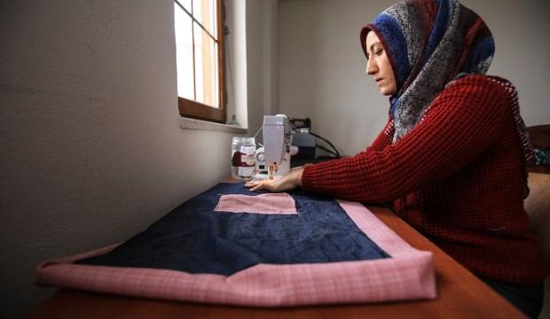 Kullanılmayan kıyafet ve kumaşlar bez torbaya dönüştürülüyor