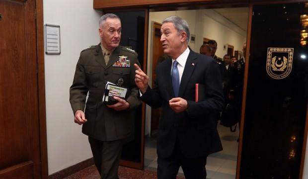Bakan Akar, ABD Genelkurmay Başkanı'nı kabul etti