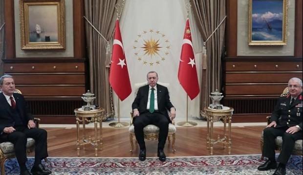 Başkan Erdoğan, Akar ve Güler ile görüştü