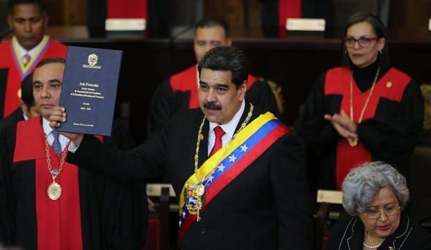 Maduro devlet başkanlığı için yemin etti
