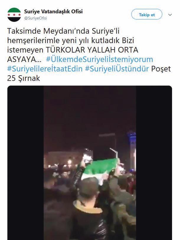 Mehmet T. isimli şahsın yönettiği Twitter hesabından yapılan provokatif paylaşım.
