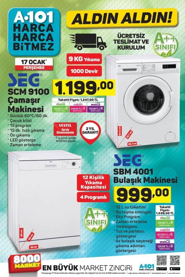 A101 Çamaşır Makinesi