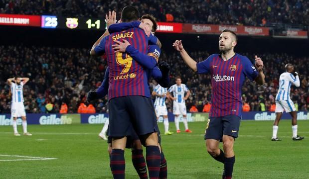 Barcelona'yı Messi kurtardı