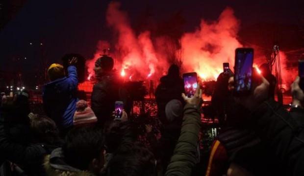 Bolu'da Galatasaray'a coşkulu karşılama