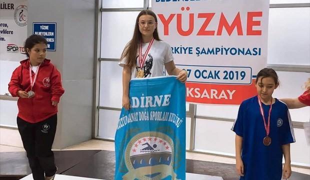 Edirneli yüzücünün başarısı