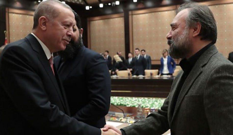 Erdoğan 'Reis' espirisiyle ünlü oyuncuyu güldürdü