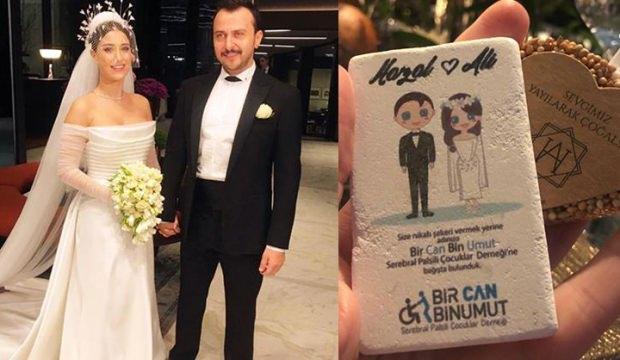 Hazal Kaya ile Ali Atay'ın düğününden anlamlı hareket!