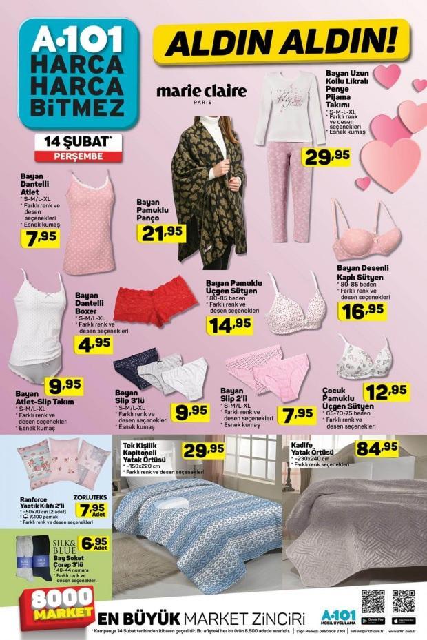 A101 Giyim - Tekstil kataloğu / 14 Şubat 2019