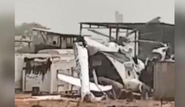 Birleşmiş Milletler üssüne helikopter düştü