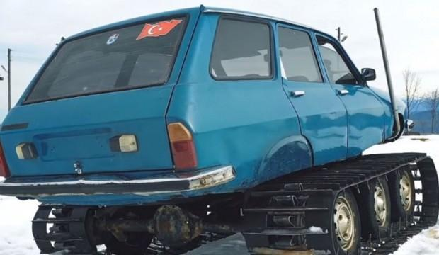 77 model Toros'u paletli kar aracına dönüştürdü