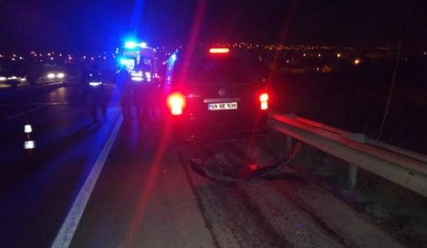 TIR'a çarpan aracın sürücüsü yaralandı