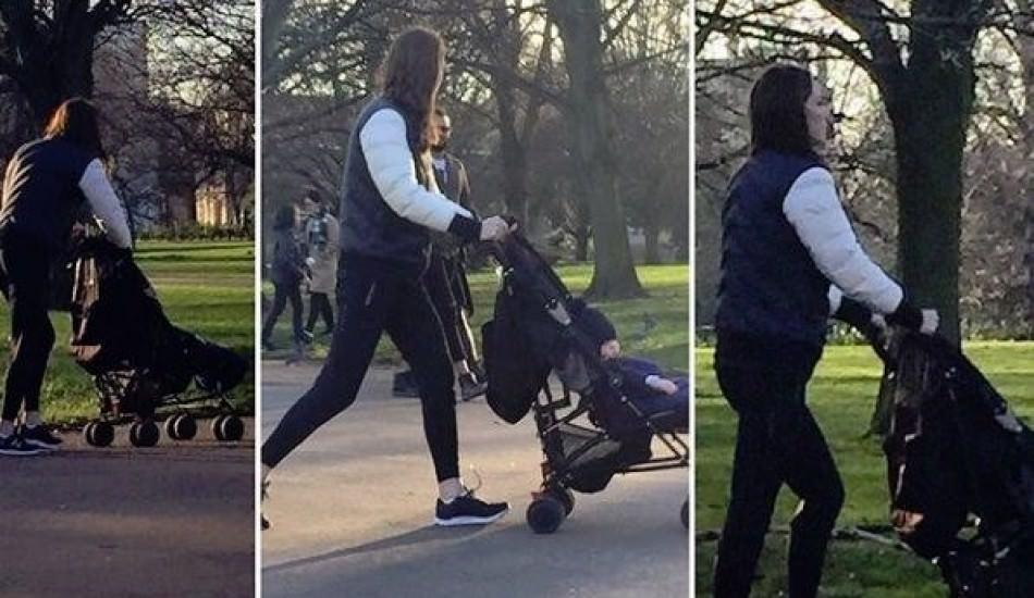 Türk çift Kate Middleton ve oğlu Prens Louis'yi parkta görüntüledi