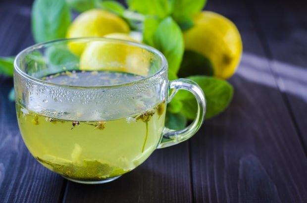 yeşil çay limon maden suyu kürü