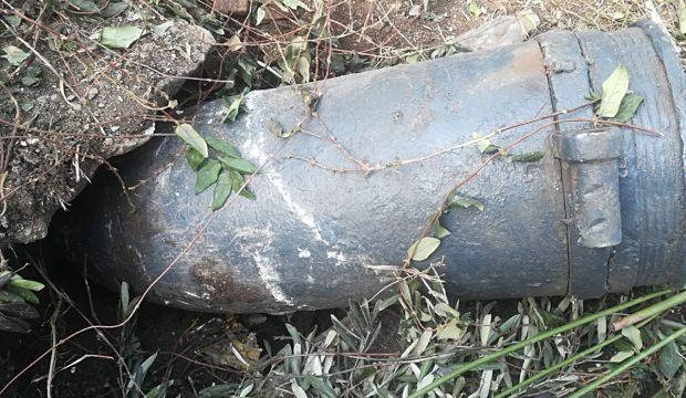 Kocaeli'de patlamamış top mermisi bulundu