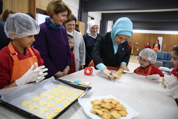 Emine Erdoğan ve çocuklar