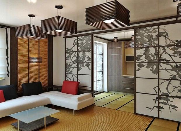 Japon stilinde oturma odaları