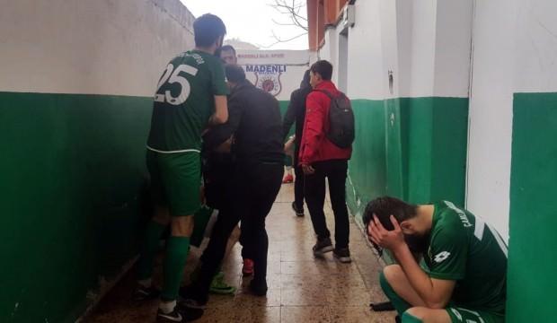 Rize'de amatör maçta olay çıktı